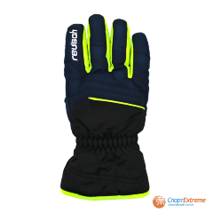 Перчатки горнолыжные REUSCH 2020-21 Alan Black/Dress Blue/Neon Green 6""